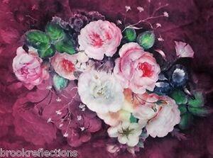 100-Silk-Scarves-Wrap-Exquizite-039-Classical-Soft-Elegant-Roses-theme-LinedWrap-BR