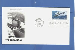 FIRST-DAY-ISSUE-FDC-U-S-NAVY-SUBMARINES-LOS-ANGELES-CLASS-SUB-33-CENT-STAMP