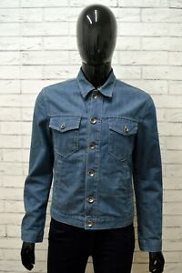 Giubbino-Jeans-RIFLE-Uomo-Taglia-Size-M-Giubbotto-Giacca-Jacket-Man-Cotone-Blu