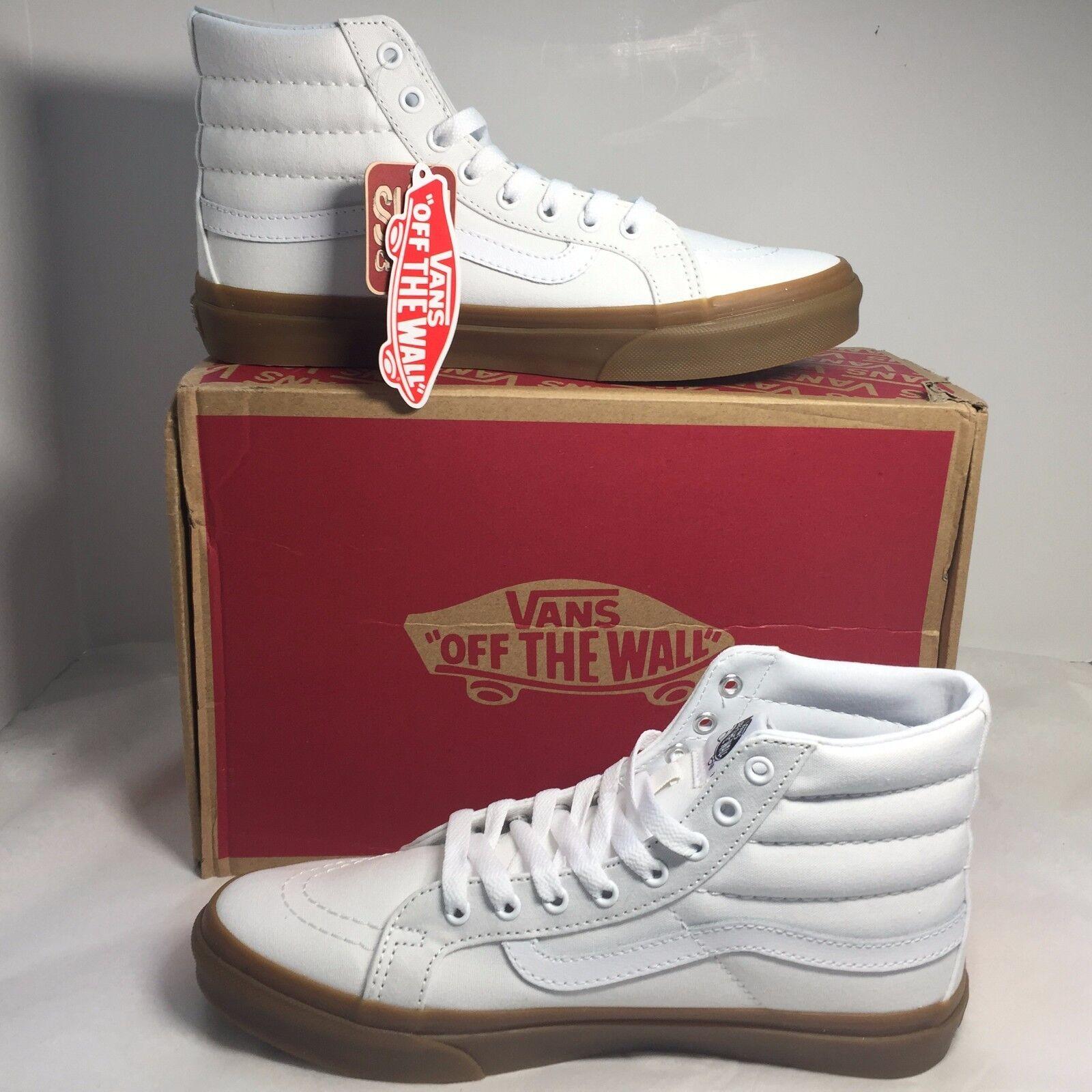 Vans Sk8 Hi Slim Light Gum True White VN0A32R2LPU Womens 9 Mens 7.5