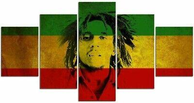 Tableau Mural Bob Marley Reggae Polyptyque Impression Sur Toile Déco Salon Bar