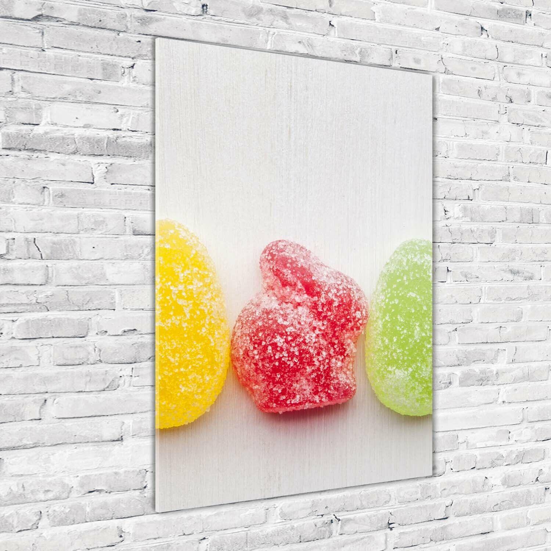 Wand-Bild Kunstdruck aus Acryl-Glas Hochformat 70x100 Gummibonbons