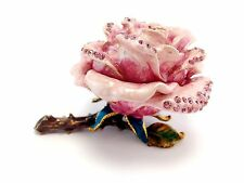 Valentines Day Pink Rose Forever Love Flower Jewelry Trinket Box Cute Gift 02020