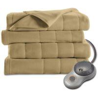 Sunbeam Electric Heat Blanket Heated Fleece Warming Twin Assorted Colors