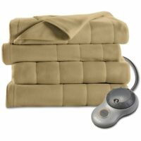 Sunbeam Electric Heat Blanket Heated Fleece Warming Twin Assorted Colors