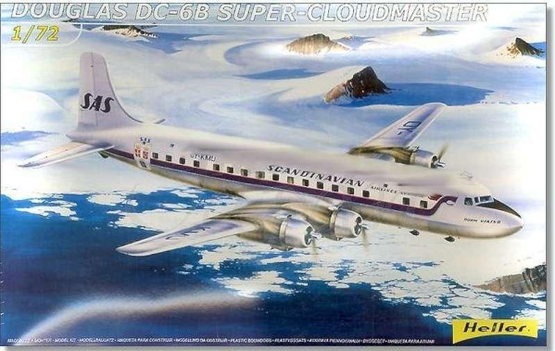 Heller DC6B Super Cloudmaster 8035 1  72 Nytt flygagagplan Plastic Mod 327951080350