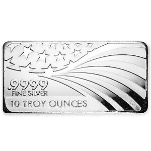 10 Oz Silver Bar Apmex Rmc 9999 Fine Co Branded