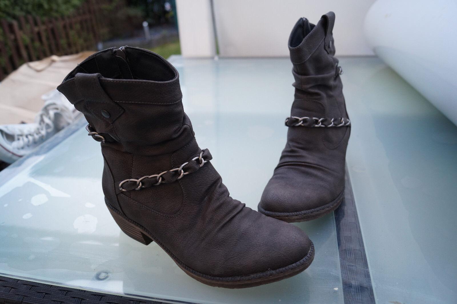 Rieker femmes femmes femmes hiver chaussures bottes bottine bottes taille 39 marron doubleure  54 495315