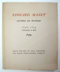 MANET-Edouard-Lettres-de-jeunesse-1848-1849-Voyage-a-Rio-Edition-originale