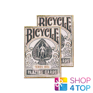 2-DECKS-BICYCLE-1900-SERIES-BLUE-MARKED-ELLUSIONIST-PLAYING-CARDS-DECK-MAGIC-NEW