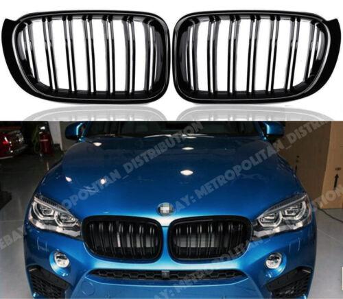 BMW X3//X4 negro brillante F25//F26,2014-18 doble//Dual Tablilla//Bar Rejilla de aspecto X3M//X4M