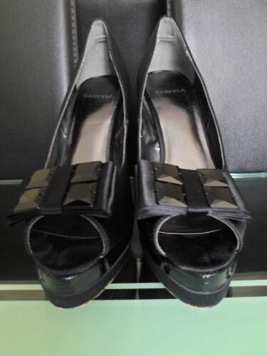 Carvela Platform Heels Women 6 Shoes Black toe Peep Size rnrqFZw0