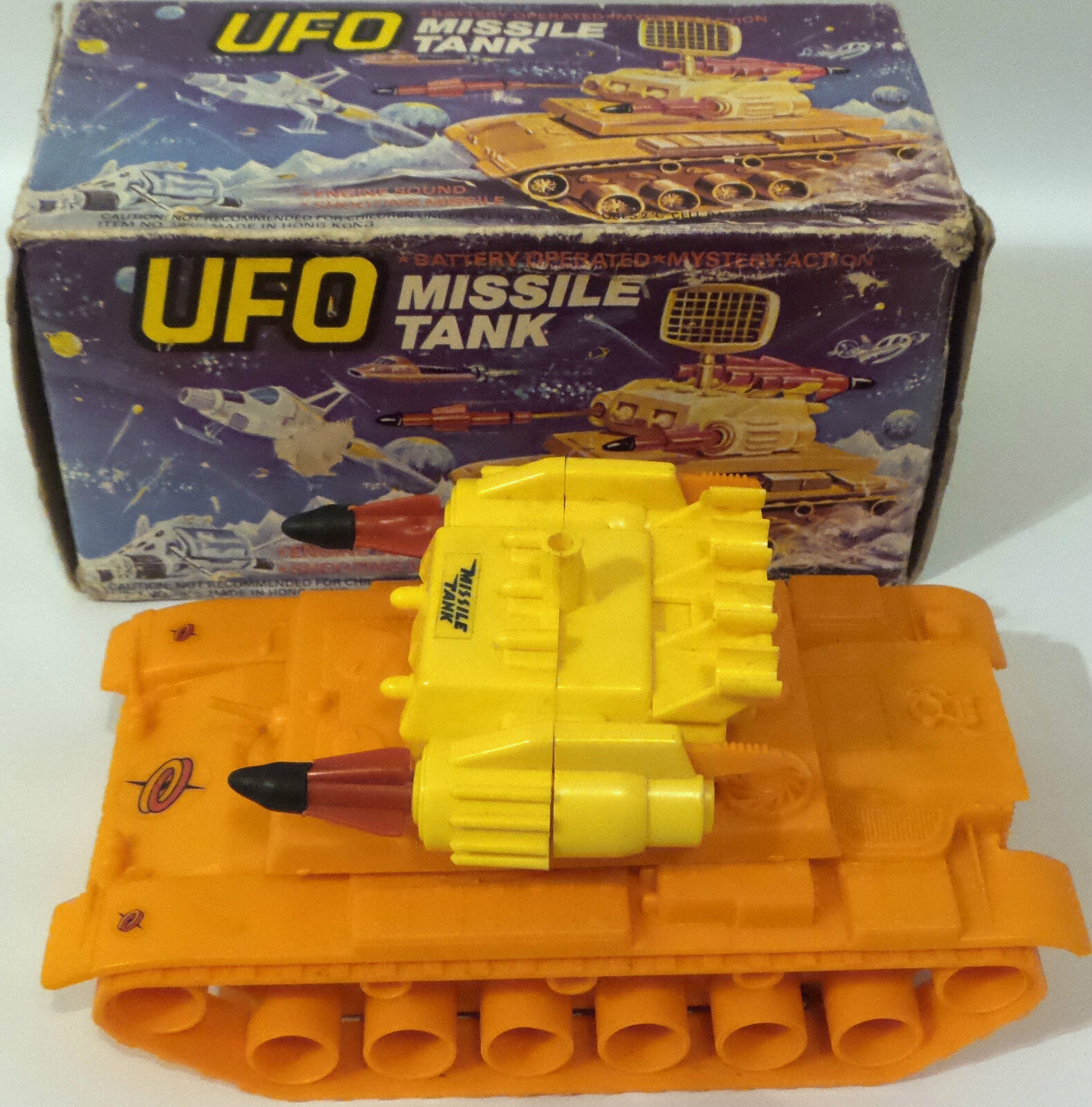 UFO   VERY RARE MISSILE TANK ELECTRONIC MODEL MADE IN HONG KONG. ITEM 2856. (DJ)
