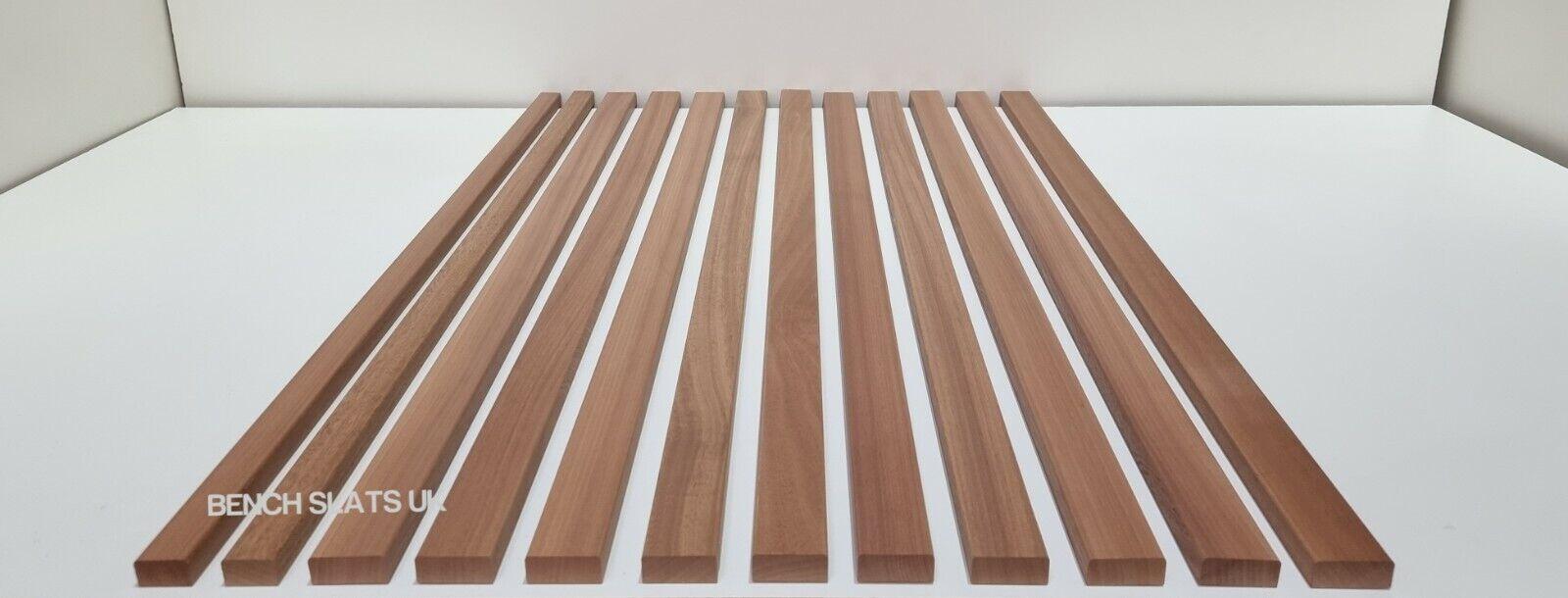 12 Solid Sapele Hardwood Garden Bench Slats Combinations 1220mm (4ft) 2 Seater
