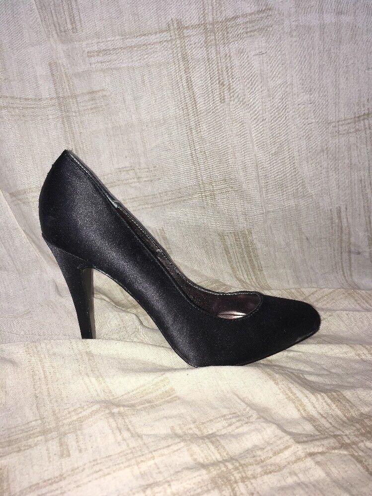 Charles David David David Black Satin Heels, Women's shoes, Size 7M ac72f2
