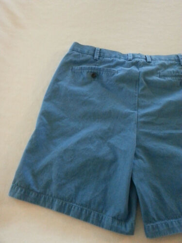 Casual Mens tasche Orvis Flat Shorts Blue Pima Cotton anteriore Size 40 0TTqwEUPp