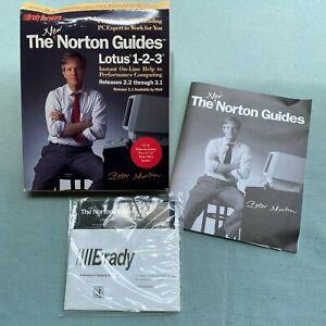 New-Norton-Guides-Lotus-1-2-3-v2-2-1990-Computer-PC-Software-5-1-4-Diskette-VTG