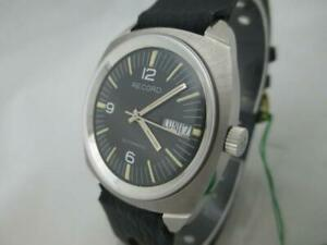 NOS-NEW-SWISS-MADE-WATERPROOF-AUTOMATIC-MEN-039-S-RECORD-WATCH-1960-039-S-WITH-DATE
