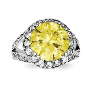 .925 Sterling Silver Yellow & White CZ Ring agIoxrRi-09091037-240765739