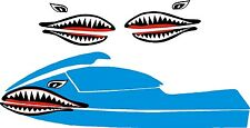 SEA DOO YAMAHA KAWASAKI JET SKI STAND UP PWC JAWS MOUTH SHARK DECAL 550  800 2