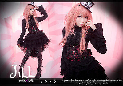 Goth lolita visual Regency Paper Doll high-rise tiered cage skirt FA248 BR