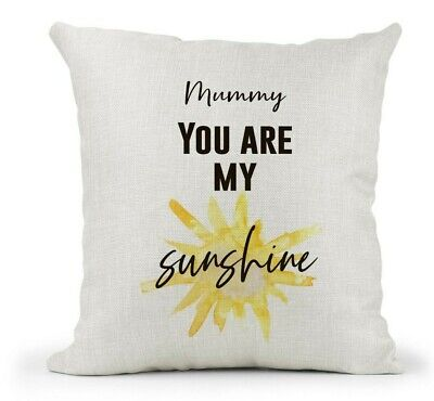 You are my Sunshine Lyrics Quote Cushion Cover Gift Country Cream Canvas