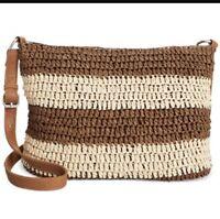 New Straw Studios Striped Crossbody Bag Purse Handbag