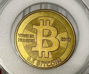 Casascius Brass .5 Bit Coin Peeled / Unfunded - Holo & Key Inc -Like BTCC, Titan