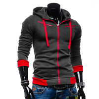 Mens Fit Hooded Sweater Hoodies Winter Warm Jacket Coat Jumper Top Outfit