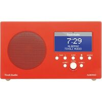 Tivoli Albergo High Gloss Red/white Clock Radio With Bluetooth on sale