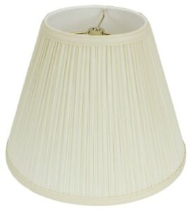 Usa american made mushroom pleated lamp shade tapered empire 4 sizes image is loading usa american made mushroom pleated lamp shade tapered aloadofball Images