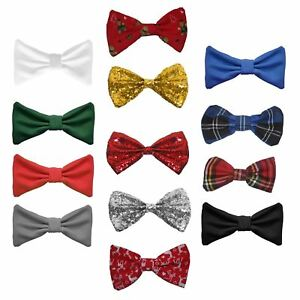 image is loading unisex christmas bow tie festive dickybow fancy dress