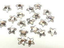 ST10-20x 10mm STAR HOT FIX Faceted Glass Crystal Rhinestone Diamante Gems BLING