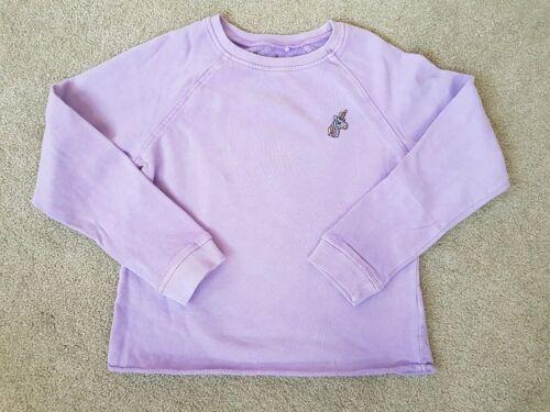 Age 3-16 years New Girls Purple Unicorn Winter Sweater jumper ex store