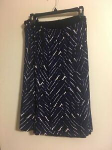 0f739e320fc Travel Smith Skirt Blue black Print Plus Size 3x Reversible NWT