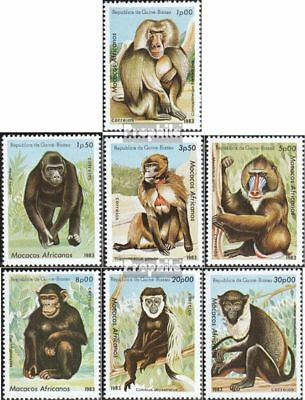 complete.issue. Reliable Guinea-bissau 658-664 Unmounted Mint Never Hinged 1983 Monke