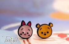Disney pooh the winne piglet metal earring ear stud earrings 2PCS earring new