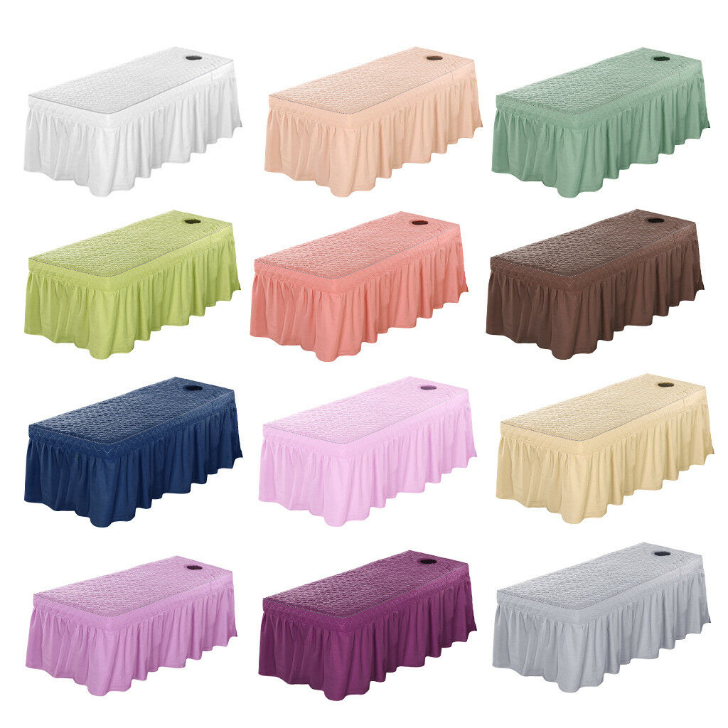Spa Massage Bed Predective Cover Sheet Beauty Table Skirt 21  Drop 80x190cm