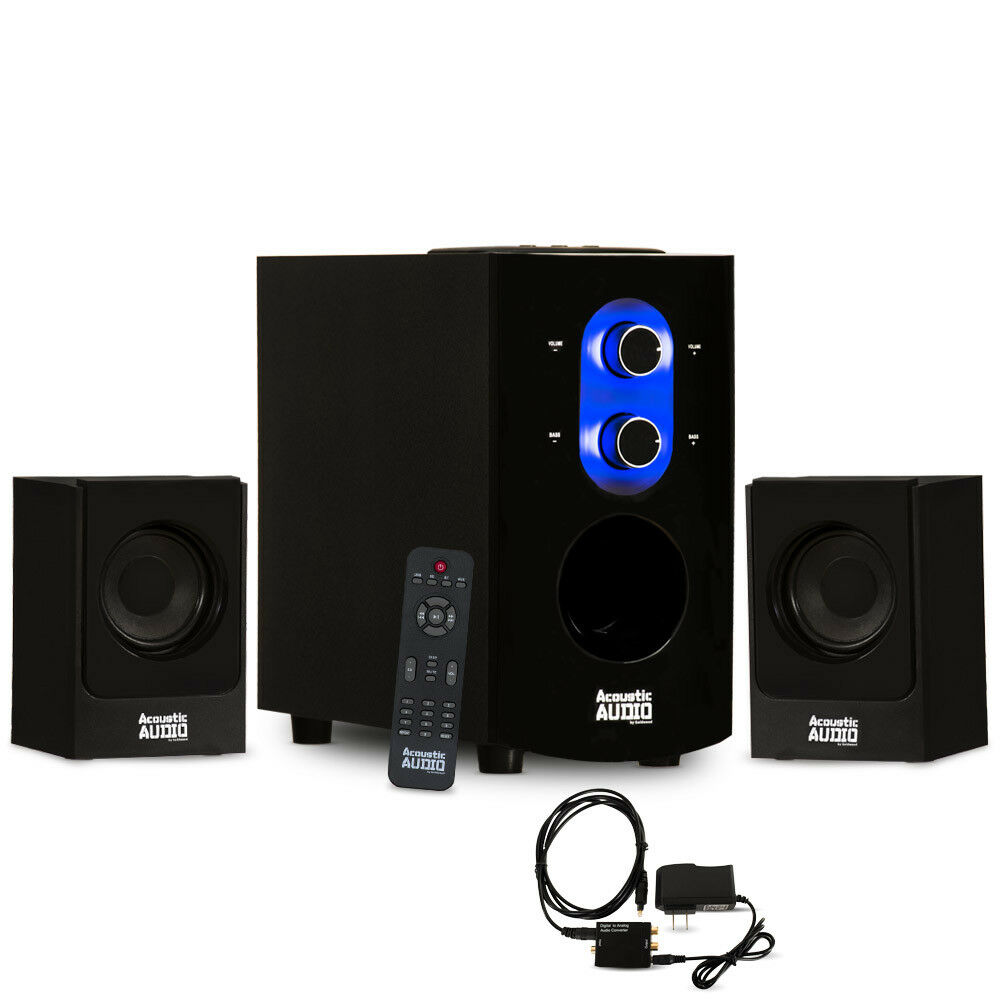 Acoustic Audio blueetooth 2.1 Speaker System with Optical Input for Multimedia