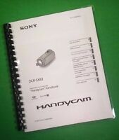 Laser Printed Sony Sx83 Handycam 96 Page Owners Manual Guide
