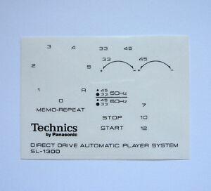 Technics-decal-stickers-SL-1300-turntable-set-Printed-BLACK-Very-RARE