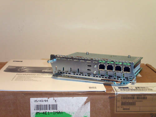 NEU Cisco NM-4E1-IMA - E1 ATM-E1-4E1-IMA ATM-E1 NEW OPEN BOX