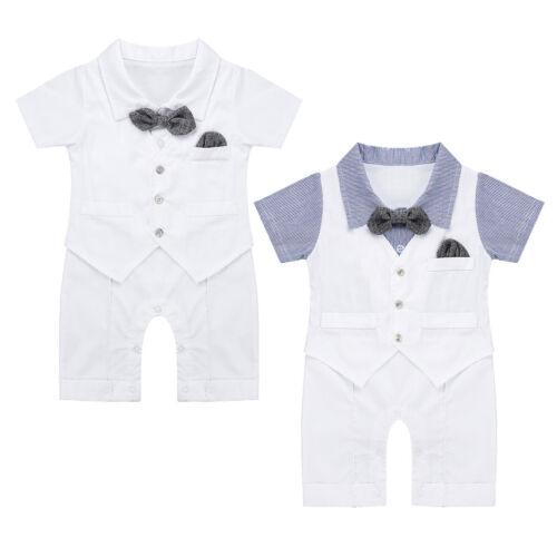 Baby Junge Body Smoking Neugeborenen Strampler Overall Taufe Hochzeit Kleidung