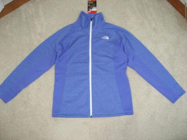 1f7345ee8 North Face Big Girls Arcata Full Zip Fleece Jacket XL Grapemist Blue Heather