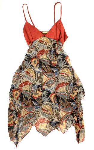 Vintage 90s Y2K Cami Dress Velvet Sheer Paisley Me