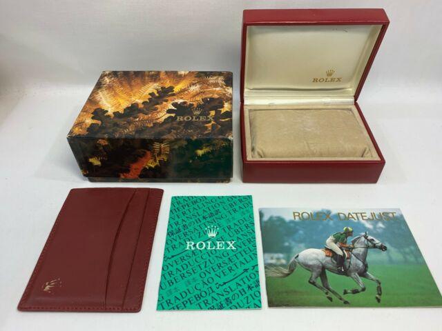 VINTAGE GENUINE ROLEX Datejust 69173 watch box case ladies 14.00.02 0127116