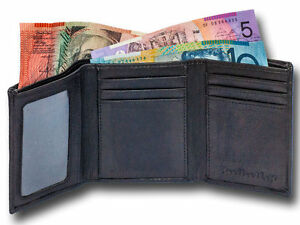 NEW-Real-Leather-Trifold-Mens-wallet-slim-profile-hand-crafted-long-lasting