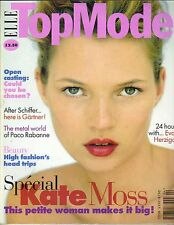 KATE MOSS UK  Elle Top Model Magazine 4/97 EVA HERZIGOVA
