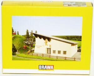 Brawa-H0-6343-Hahnenkammbahn-Gebaeudesatz-fuer-Berg-und-Talstation-NEU-OVP