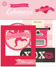 Echo Park Paper BLOWING KISSES Ephemera Die Cuts 33pc Love Heart Valentine